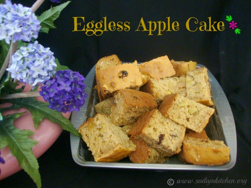 images of Eggless Apple Cake / Apple Eggless Cake Recipe