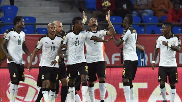Jordan Ayew celebrates with teammates after scoring a goal