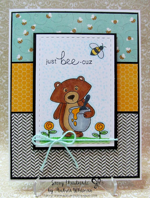 Just Bee-cuz by Andrea features Winston's Honeybees by Newton's Nook Designs; #newtonsnook