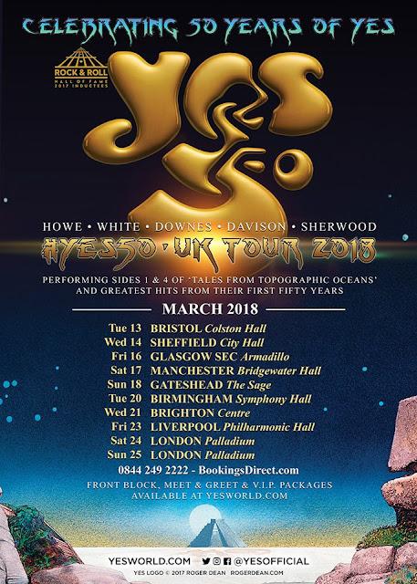 Resultado de imagem para Yes anuncia turnê comemorativa de 50 anos de carreira