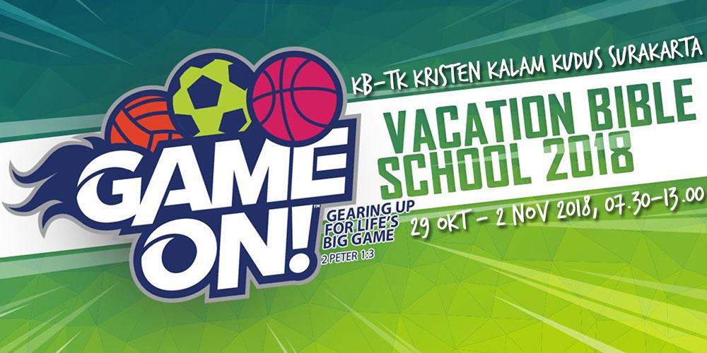 Game On: VBS KB-TK Kristen Kalam Kudus Surakarta 2018