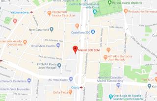 Ejemplo de cómo un negocio se queda señalado en Google Maps al darte de alta en Google My Business