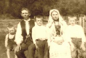 Łemkowska rodzina z Nieznajowej.