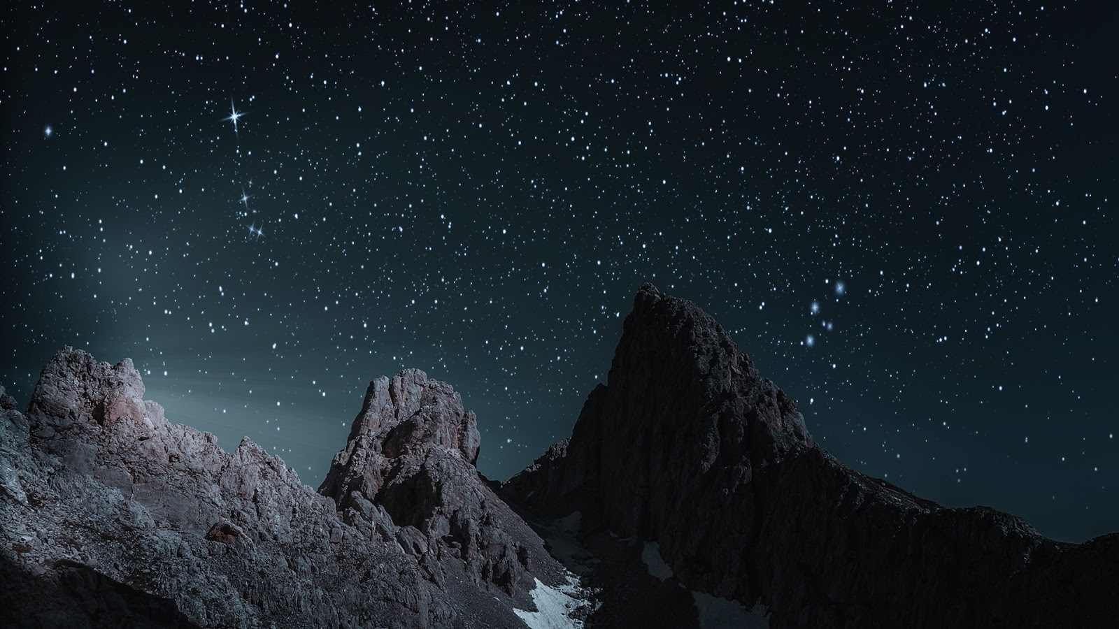 Hd Nature Wallpapers Dark Sky And Mountains Hd Wallpaper