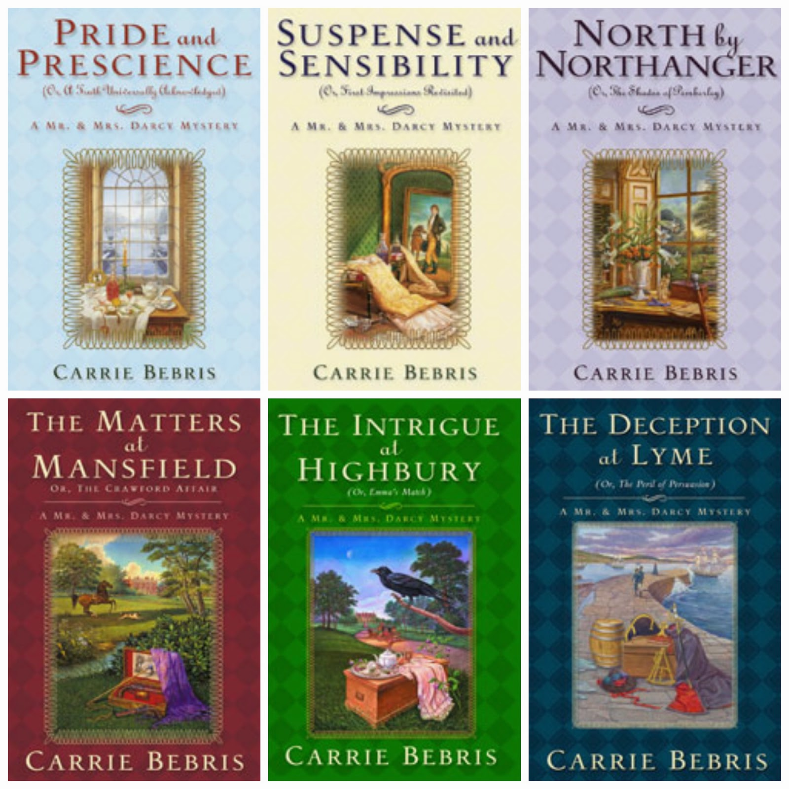 Book Covers: Mr & Mrs Darcy Mysteries by Carrie Bebris