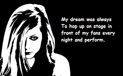 """Avril Lavigne Quotes About Dream"""