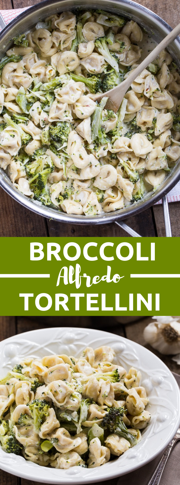 Broccoli Alfredo Tortellini #vegetarian #foodrecipes