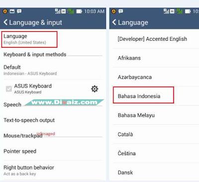 Mengubah Bahasa HP Android