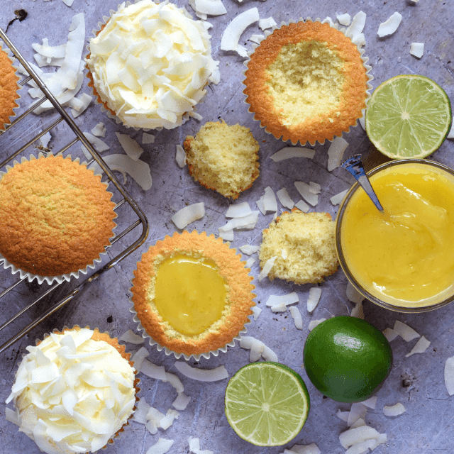 How to make coconut & lime cupcakes