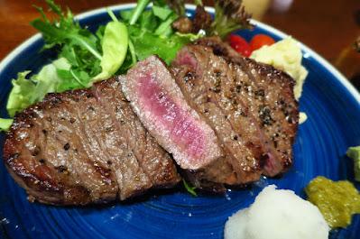 Japanese Restaurant Suju, wagyu sirloin steak