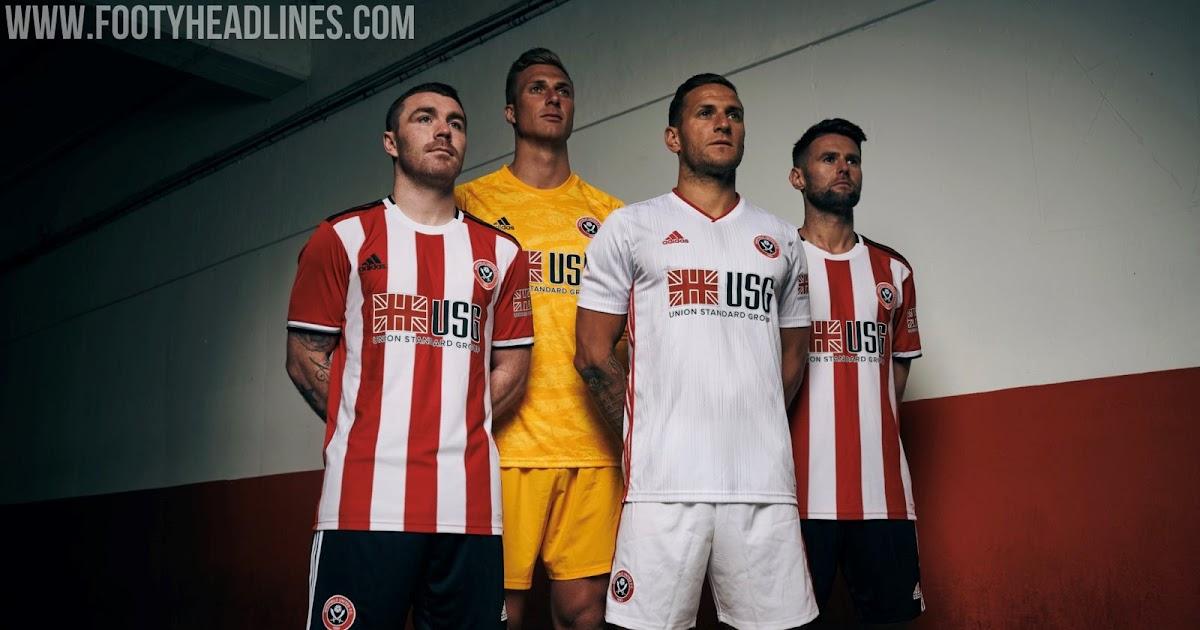 Sheffield United 19-20 Premier League Home & Away Kits ...