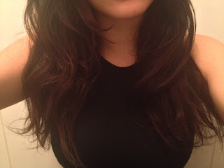 Person with smoother hair