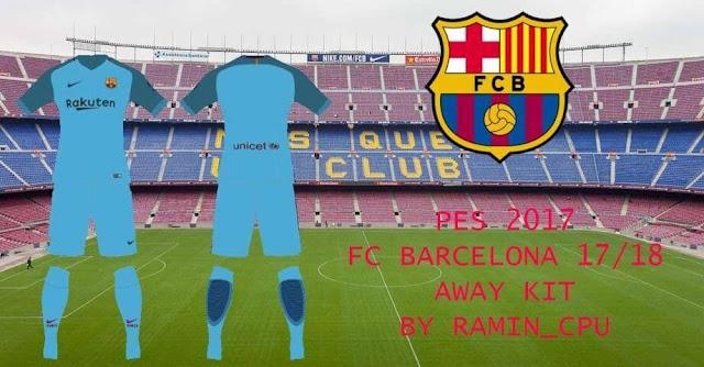 FC Barcelona 2017-18 Kit PES 2017