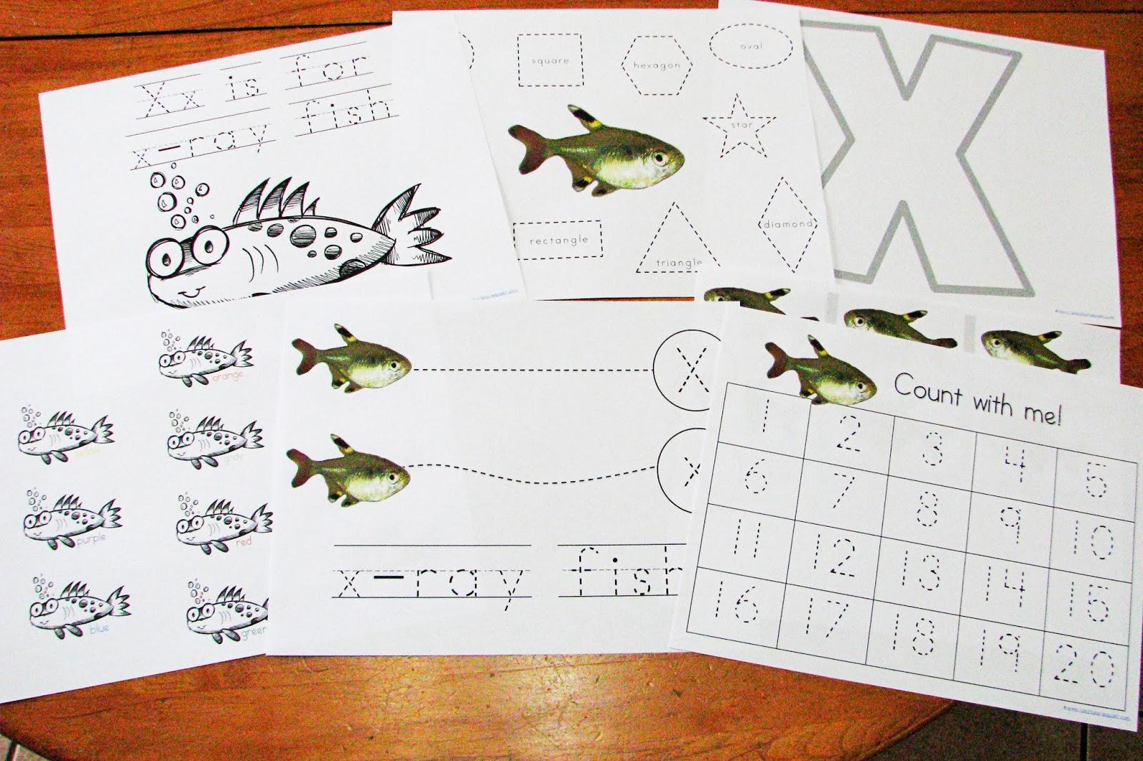 Mommy S Little Helper Letter X X Ray Fish Preschool Theme