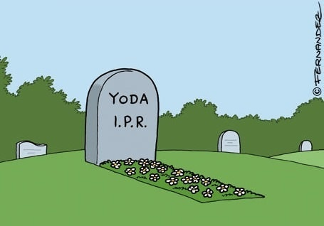 Funny Cartoon Picture - Star Wars Yoda Tombstone Epitaph