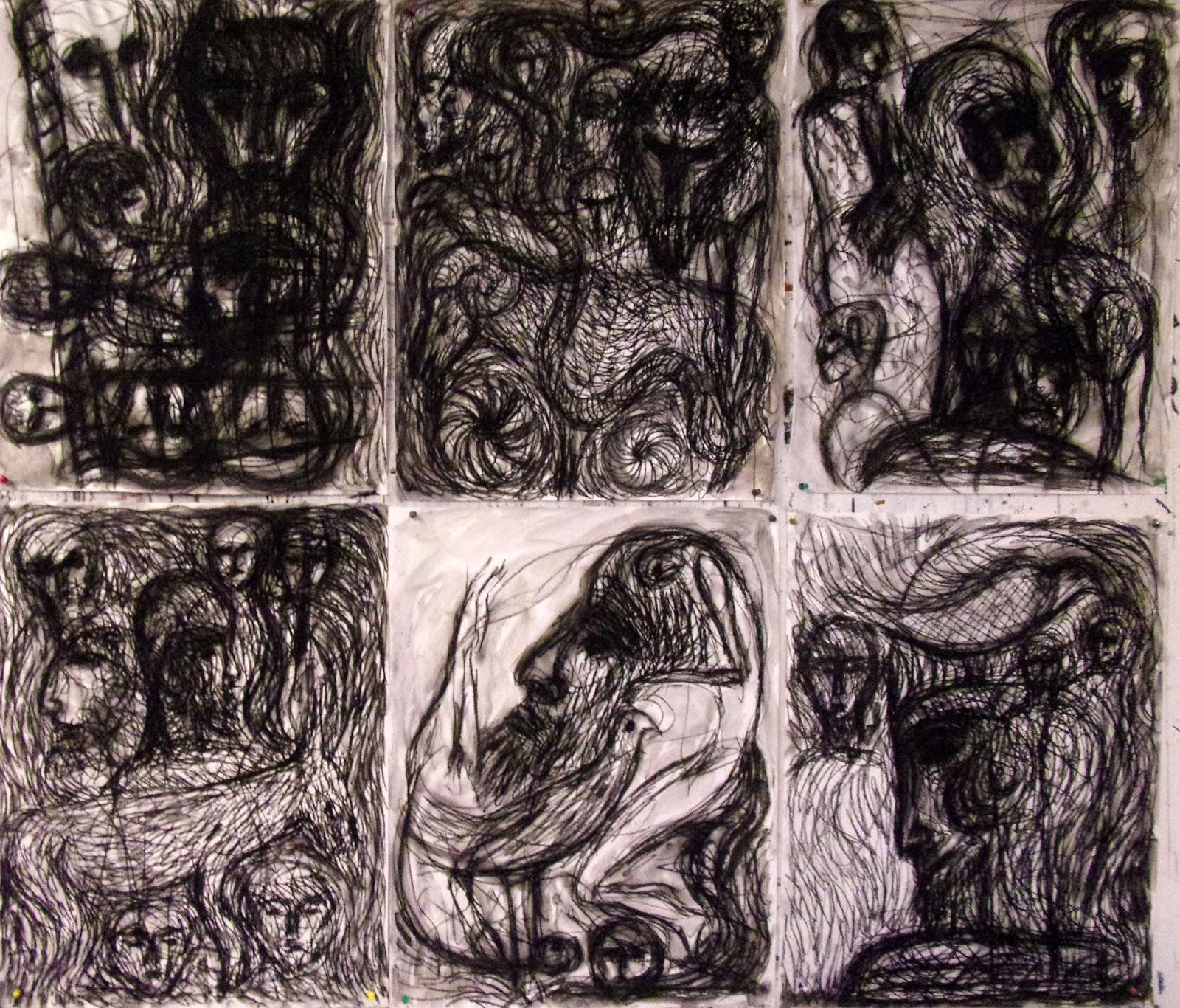 Dessin A La Craie jean-christophe philippi. journal de peinture.: dessins à la craie