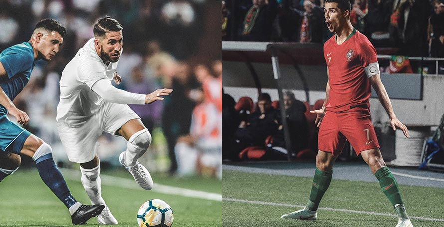 8e3dcec3b4a Nike has released some pictures of their key players wearing the boots of  the World Cup collection that is set to be debuted in the 2018 Champions  League ...