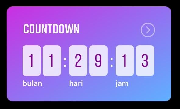Cara Mudah Membuat Stiker Countdown di Instagram Story