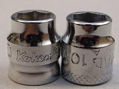 ko-ken Z-EAL と MAC tools スーパーショートソケット比較