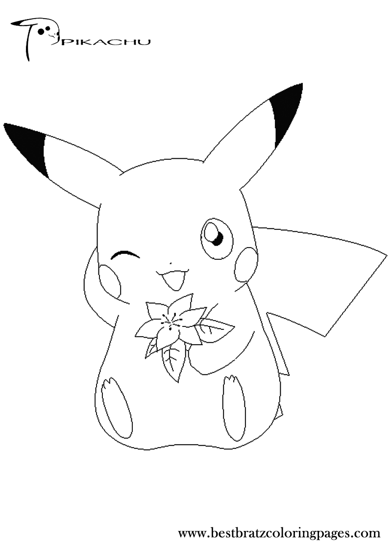 Pikachu coloring games coloring pages for Pikachu coloring pages printable