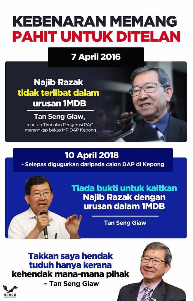 Banyak Kali Ahli Parlimen DAP Ini Nafikan Perdana Menteri Terlibat Dengan #1MDB