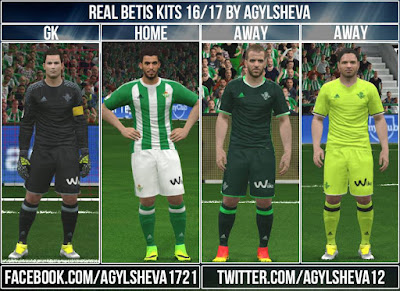 PES 2016 Real Betis 16/17 Kits By Agylsheva