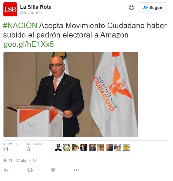 Movimiento Ciudadano puede perder registro como partido
