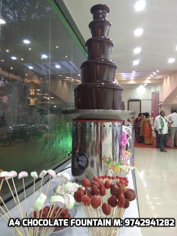 Chocolate Fountain Rental Bangalore Wedding Reception At White Petals
