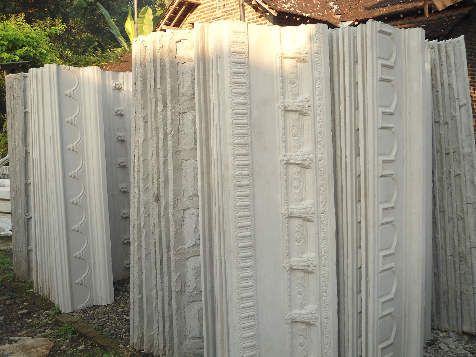 sanjaya profil beton motif listplang cetakan. Black Bedroom Furniture Sets. Home Design Ideas