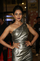 Rakul Preet Singh in Shining Glittering Golden Half Shoulder Gown at 64th Jio Filmfare Awards South ~  Exclusive 028.JPG