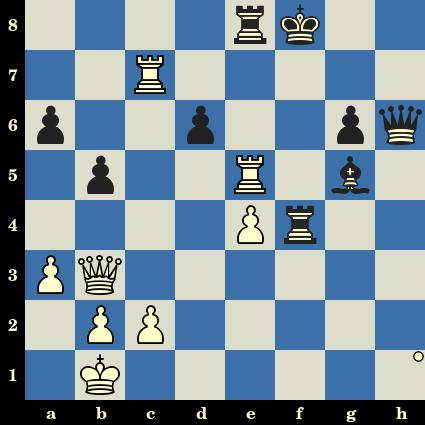 Les Blancs jouent et matent en 4 coups - Robert Fischer vs Julio Bolbochan, Stockholm, 1962