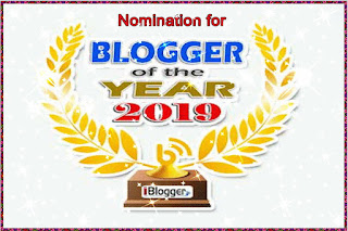 Nomination for blogger of the year 2019