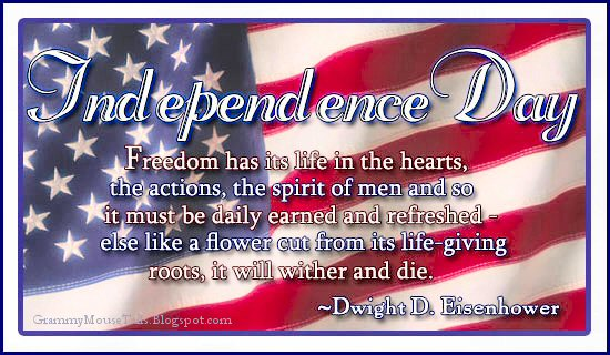 July fourth - independence day - usa flag - Eisenhower quote- image