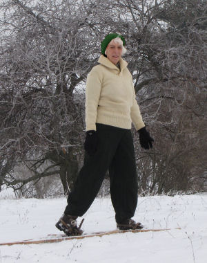 Joan on Snowshoes