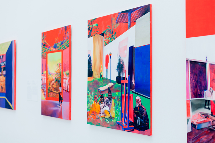 colorful paintings on canvas