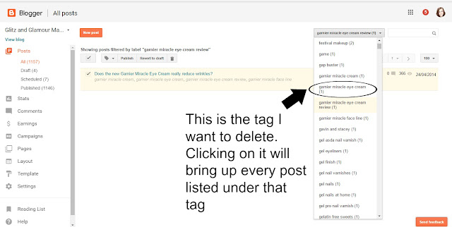 remove tags from blogger select easy tutorial
