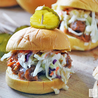 Shredded Chicken Sliders | by Life Tastes Good