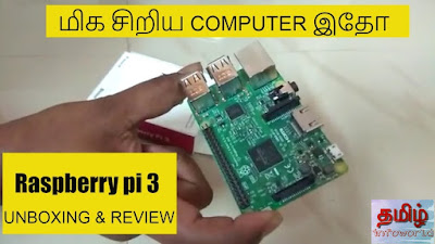 Raspberry pi 3 unboxing and Review :