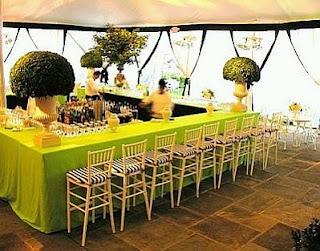 Bodas, Salones Decorados de Verde