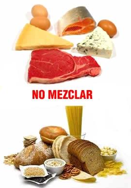 Dieta de no mezclar los alimentos