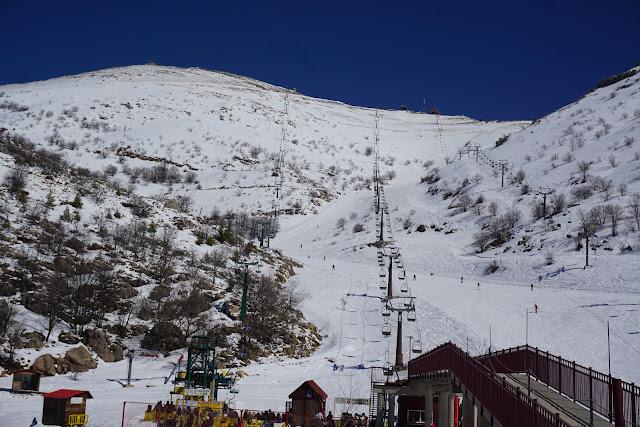 אתר החרמון עם הרבה שלג