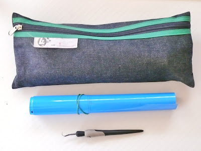 materials, pencil case, blue, HTV, heat transfer vinyl, weeding tool