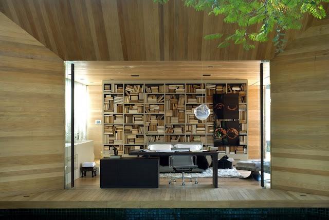 Modern home interior, Brazil