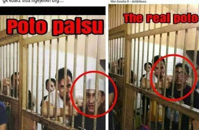 Beredar Foto Habib Bahar di Penjara Polda Jabar, Ada yang Editan dan Asli