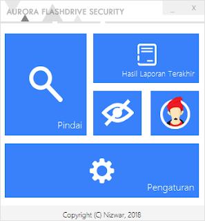 Tampilan Utama Aurora FD Security v2 - Catatan Nizwar ID