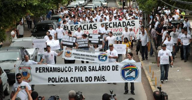 Policiais civis de Pernambuco decretam greve