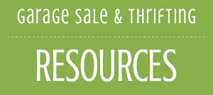 Garage Sale, Thrifting Resources