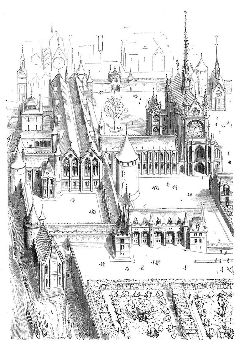 09-Palais-de-la-Cité-Eugène-Viollet-le-Duc-Gothic-Drawings-from-an-Architect-in-18th-Century-www-designstack-co