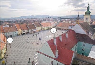 Piața Mare văzută din Turnul Sfatului