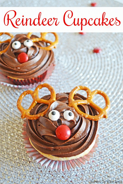 Reindeer Cupcakes recipe from Served Up With Love celebrates the classic Christmas program we all love and enjoy.